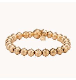 Marlo Laz Marlo Laz Squash Blossom Bead Bracelet 14kt YG (Color: Yellow Gold)