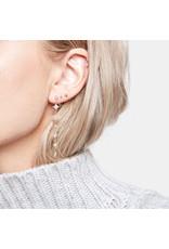 Jacquie Aiche Jacque Aiche Shining Star & Eye Diamond Drop Earrings (Color: 14K Yellow Gold)