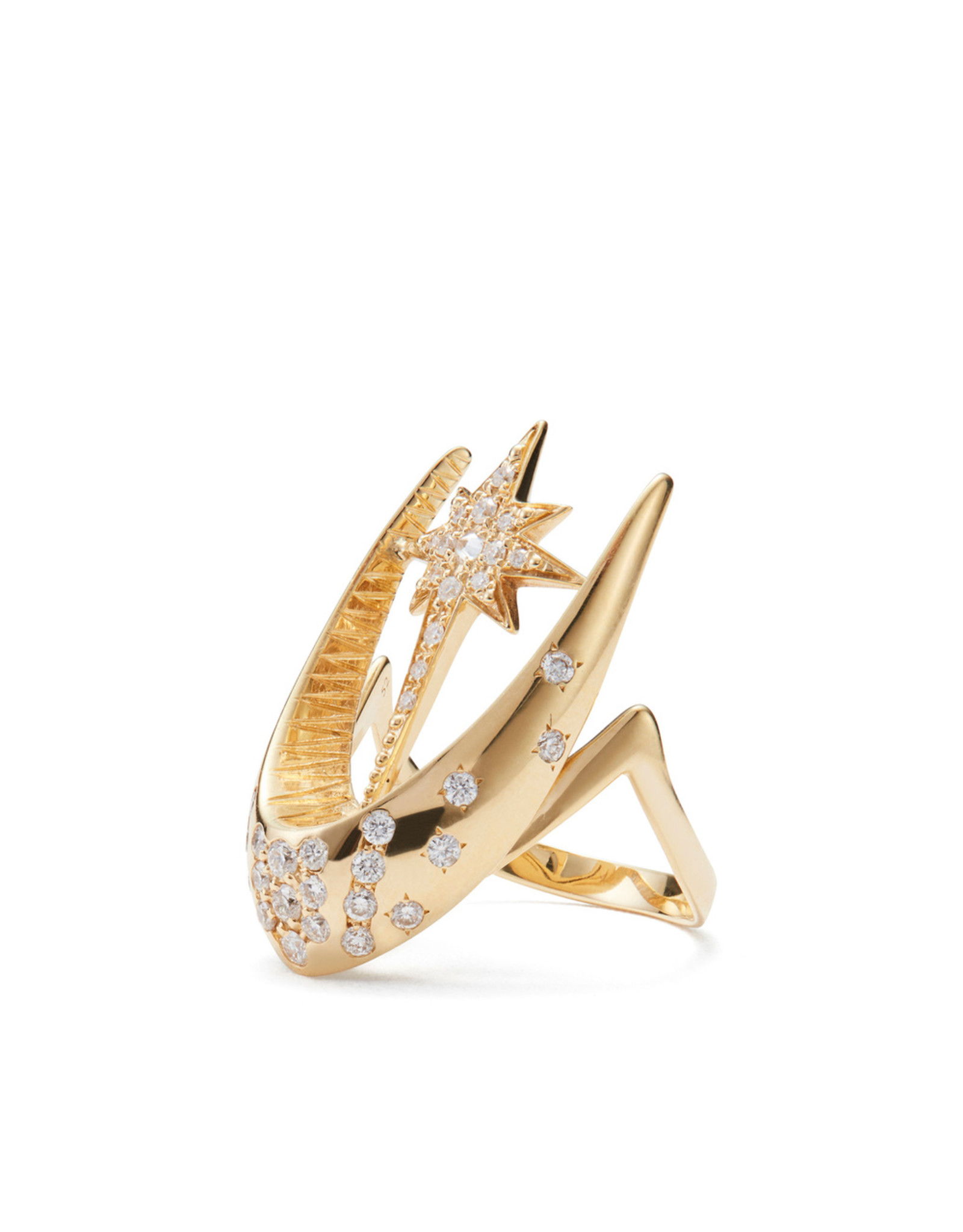 Venyx Venyx Parrot Star Fish Ring - Yellow Gold (Size: 6)