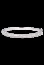 Sara Weinstock Sara Weinstock Veena Diamond Oval Bangle With Hinge - White Gold