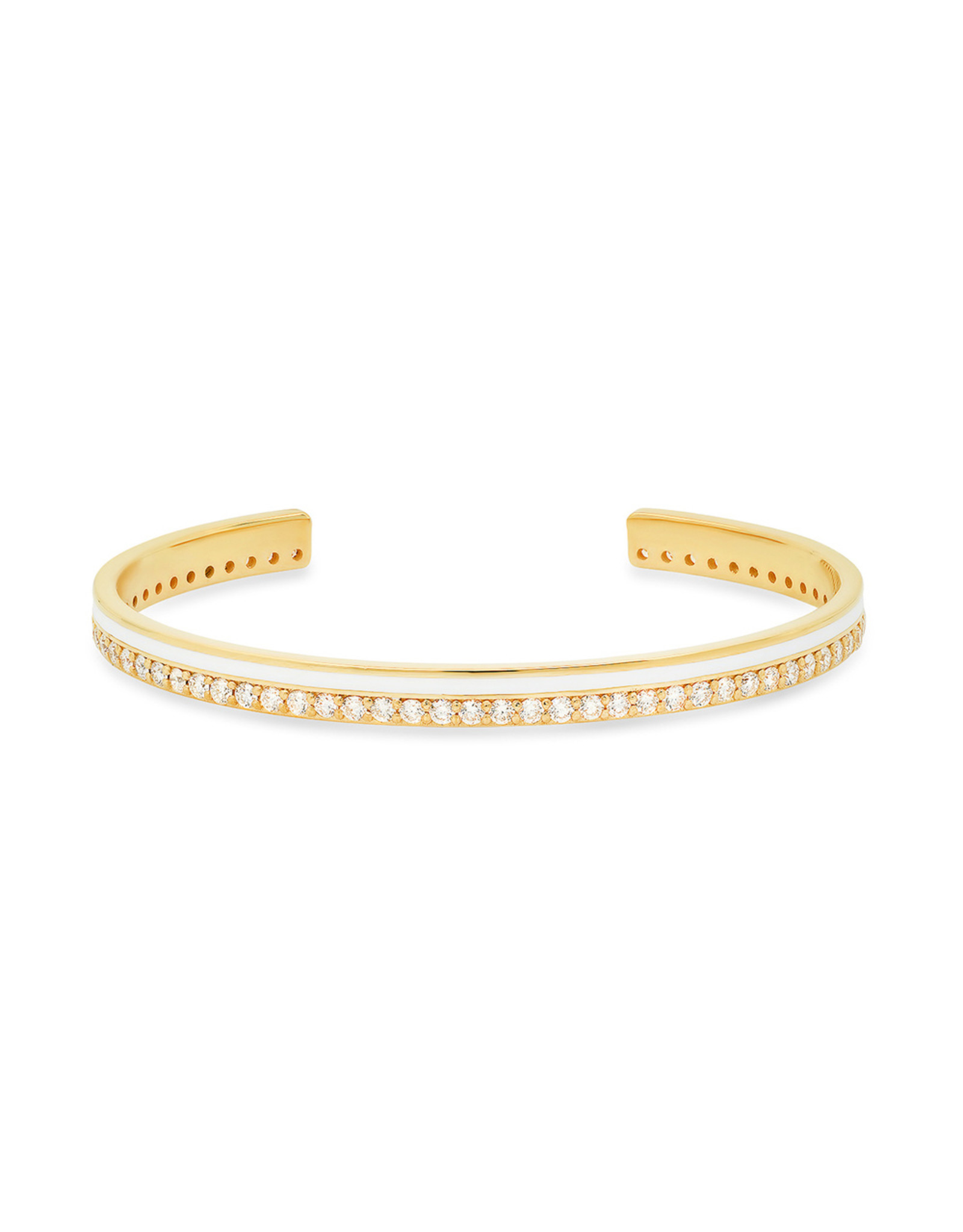 Colette Jewelry Colette Galaxia White Bracelet (Color: Yellow Gold / White)