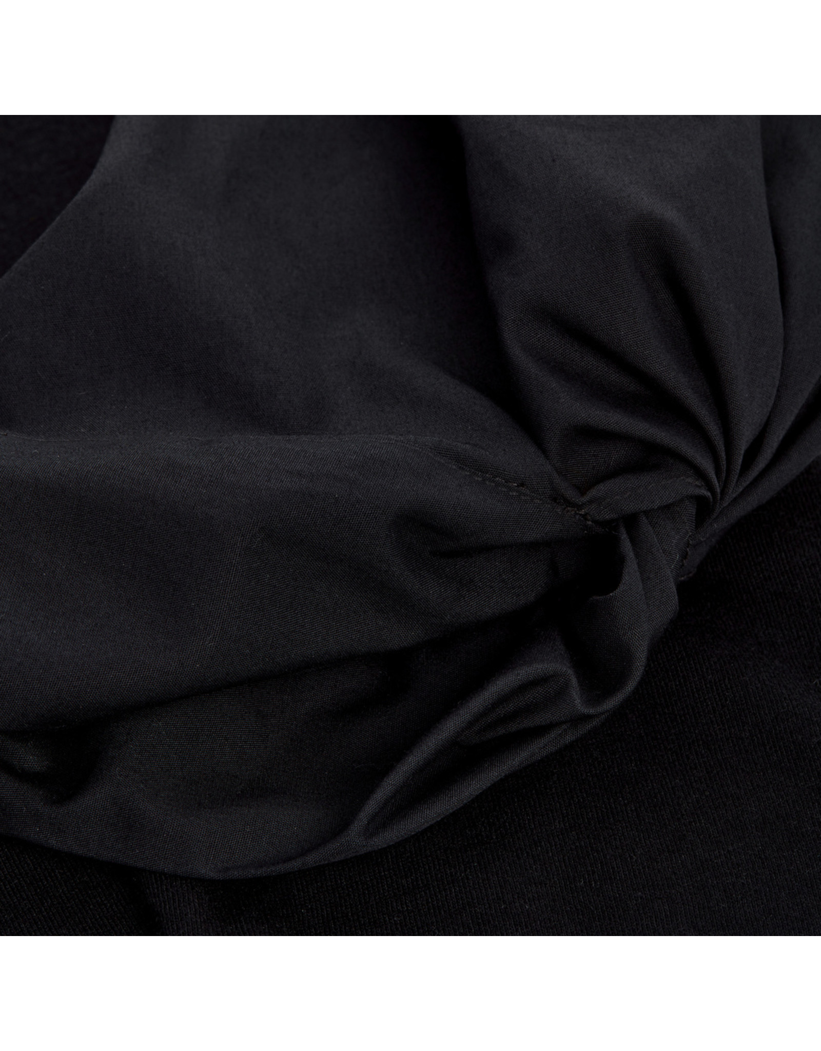 G. Label G. Label Christopher Puff-Sleeve Poplin T-Shirt (Color: Black, Size:2)