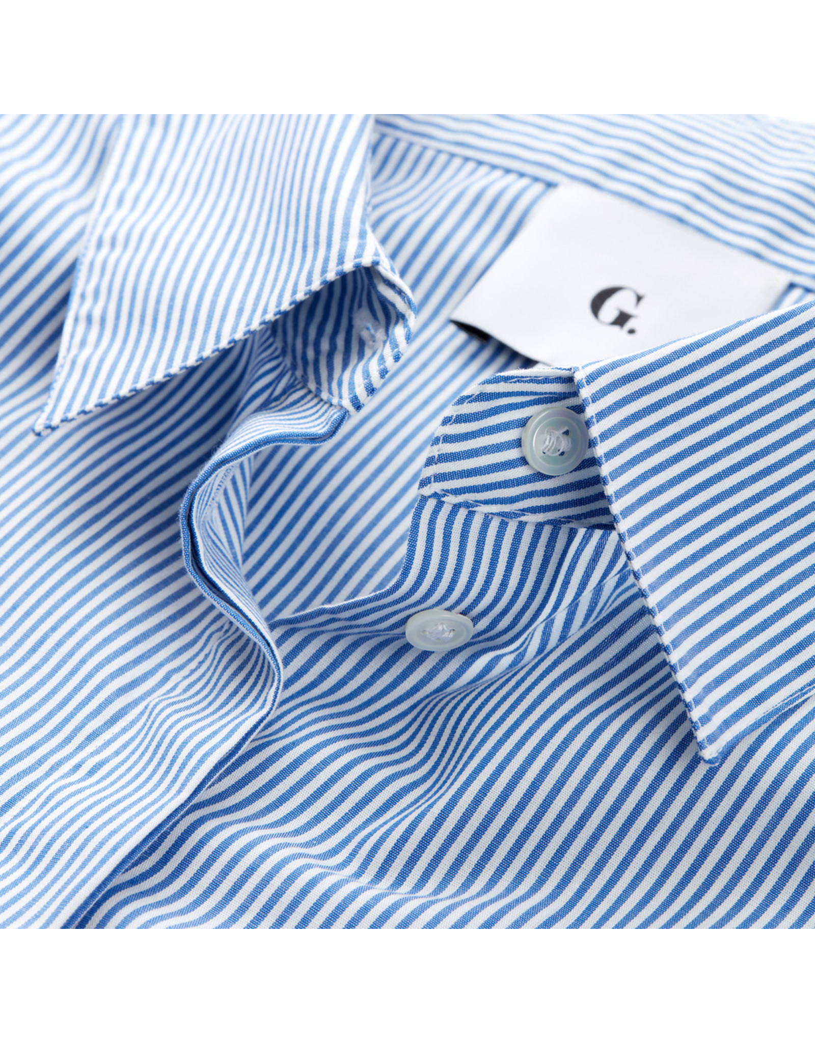 G. Label G. Label Nicole Puff-Sleeve Button-Down with Collar (Size: 8, Color: Blue/White Stripe)