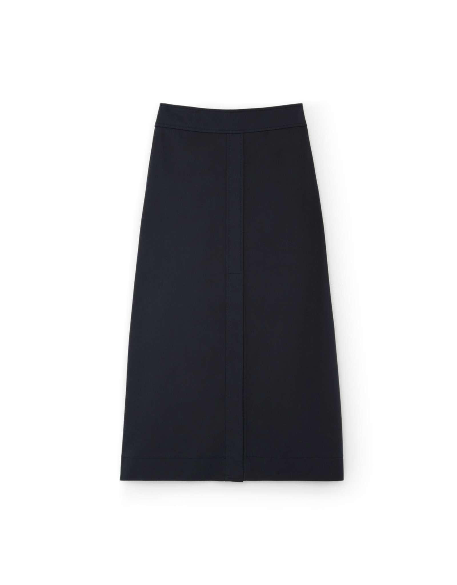 G. Label G. Label Stewart A-Line Cotton Skirt (Color: Navy, Size: 8)