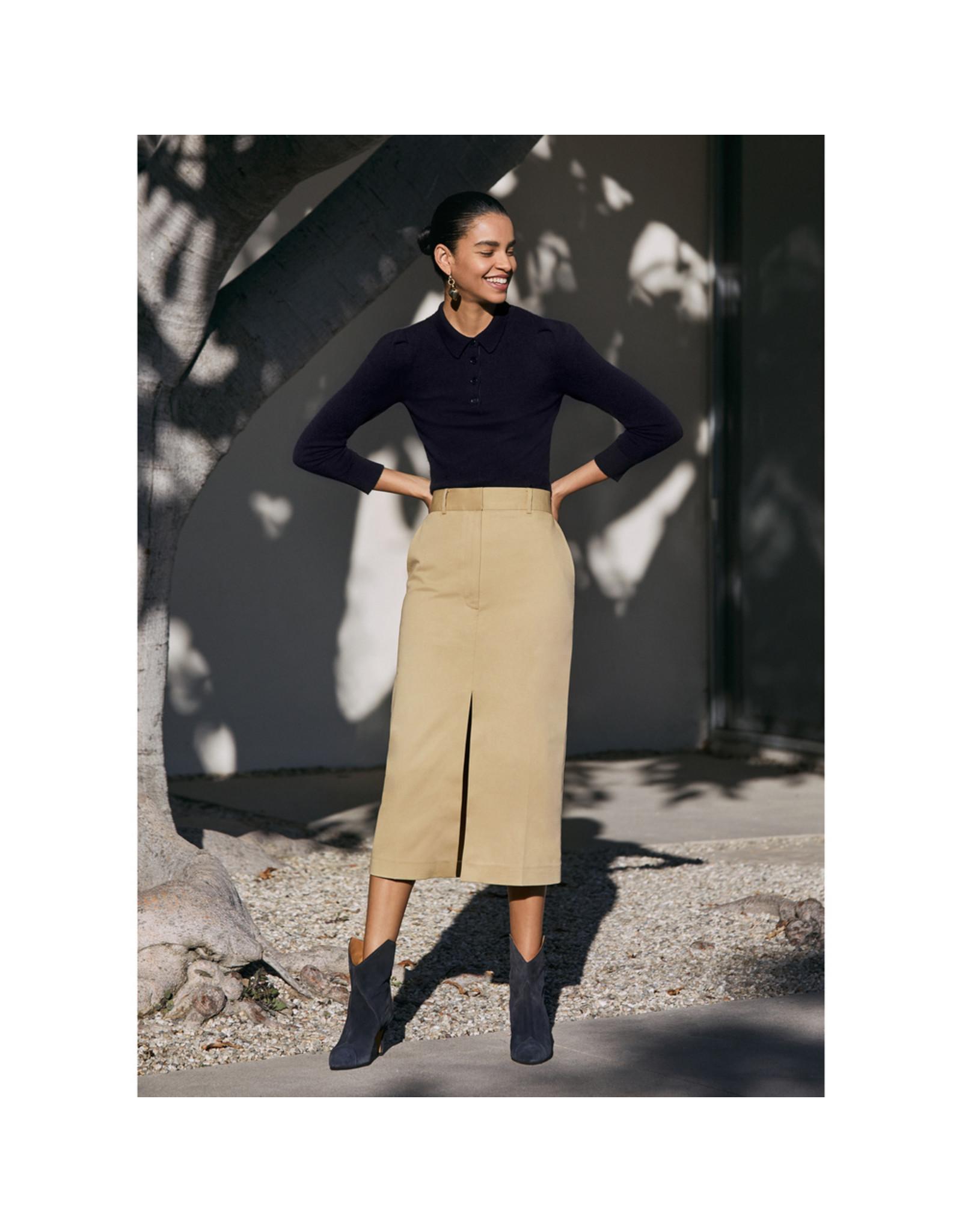 G. Label G. Label Alexandra Slit Trouser Skirt (Size: 8, Color: Khaki)