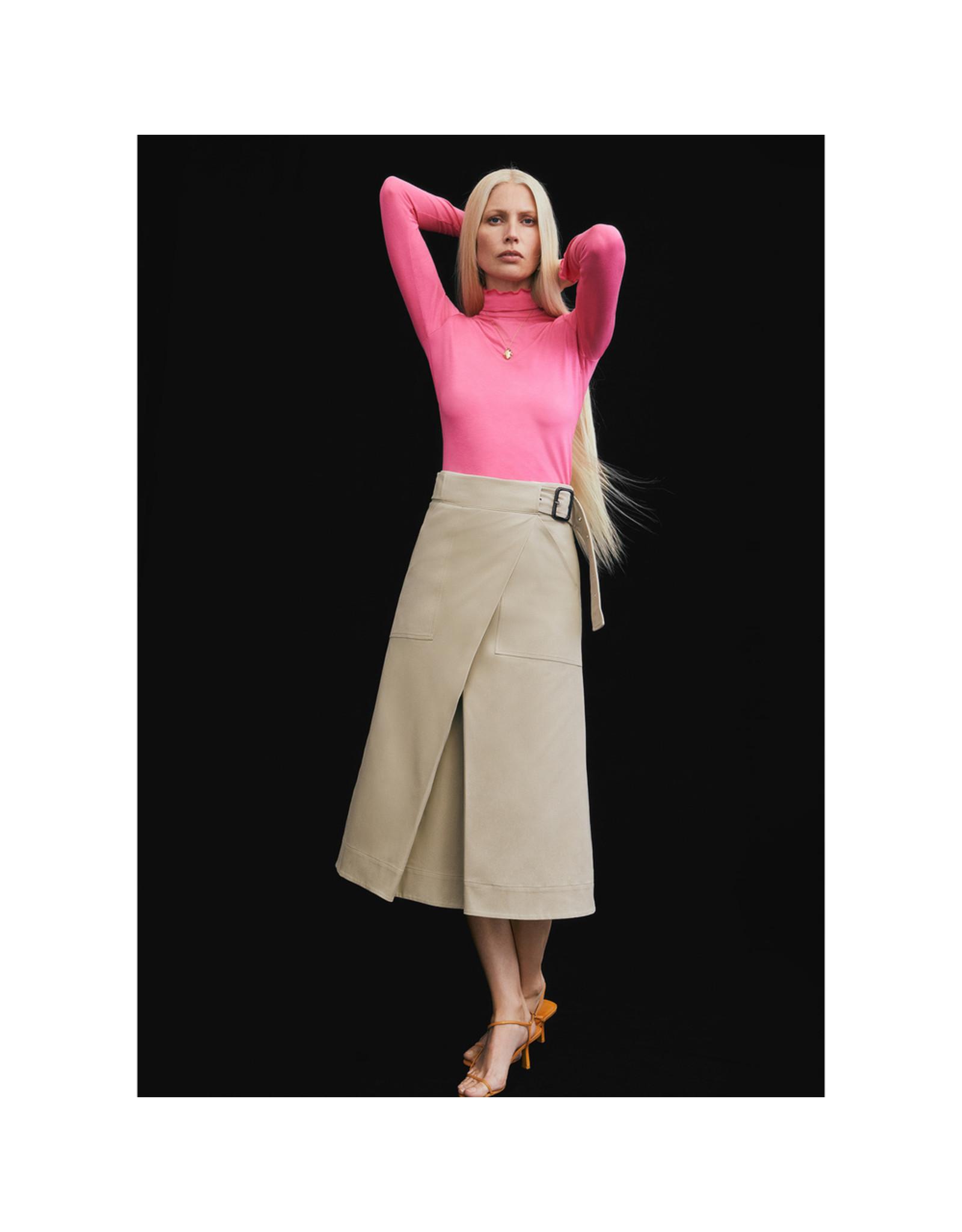 G. Label G. Label Hall Cotton Wrap Skirt (Size: 12, Color: Khaki)