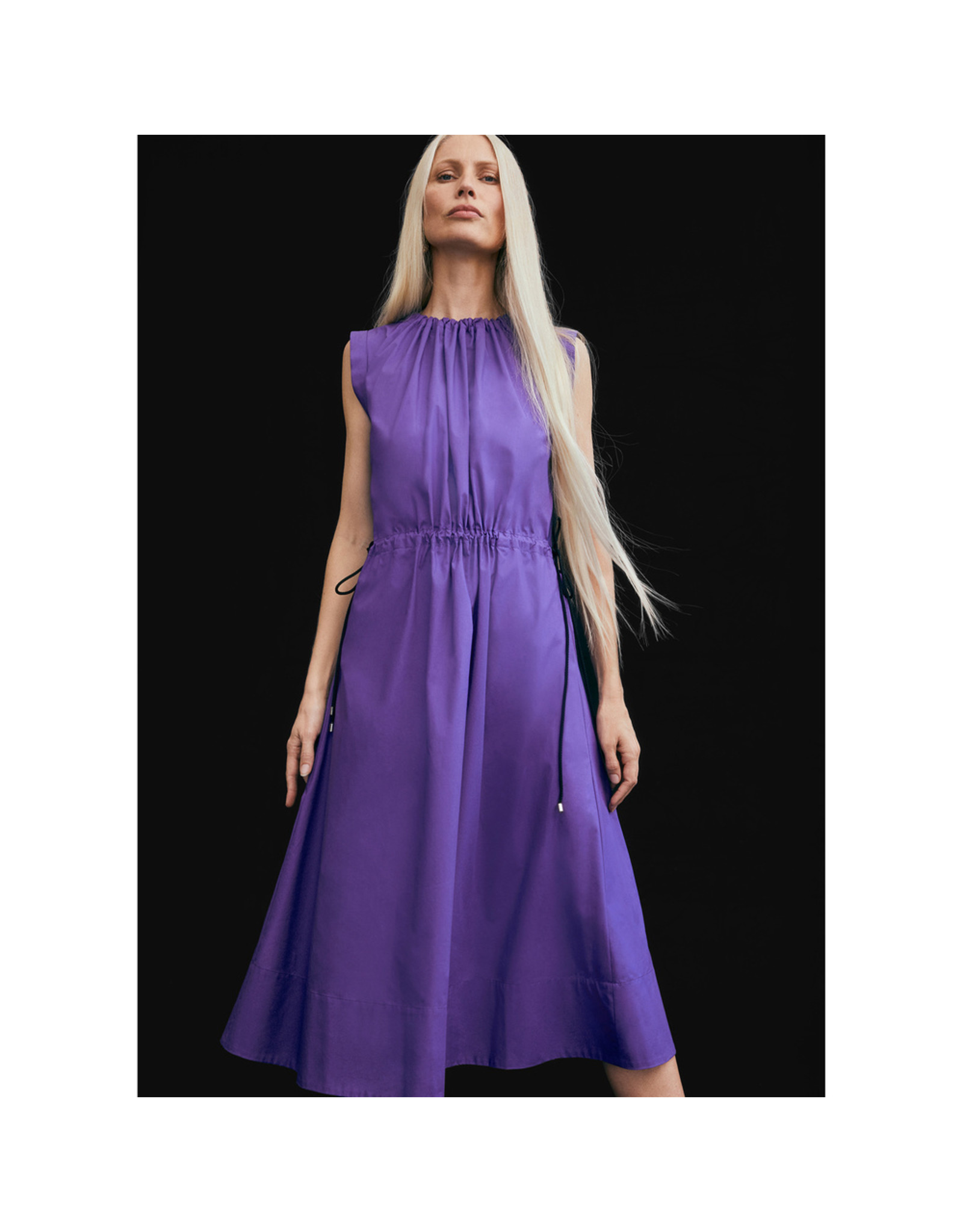 G. Label G. Label Kaci Drawstring Shirtdress (Size: 4, Color: Purple)