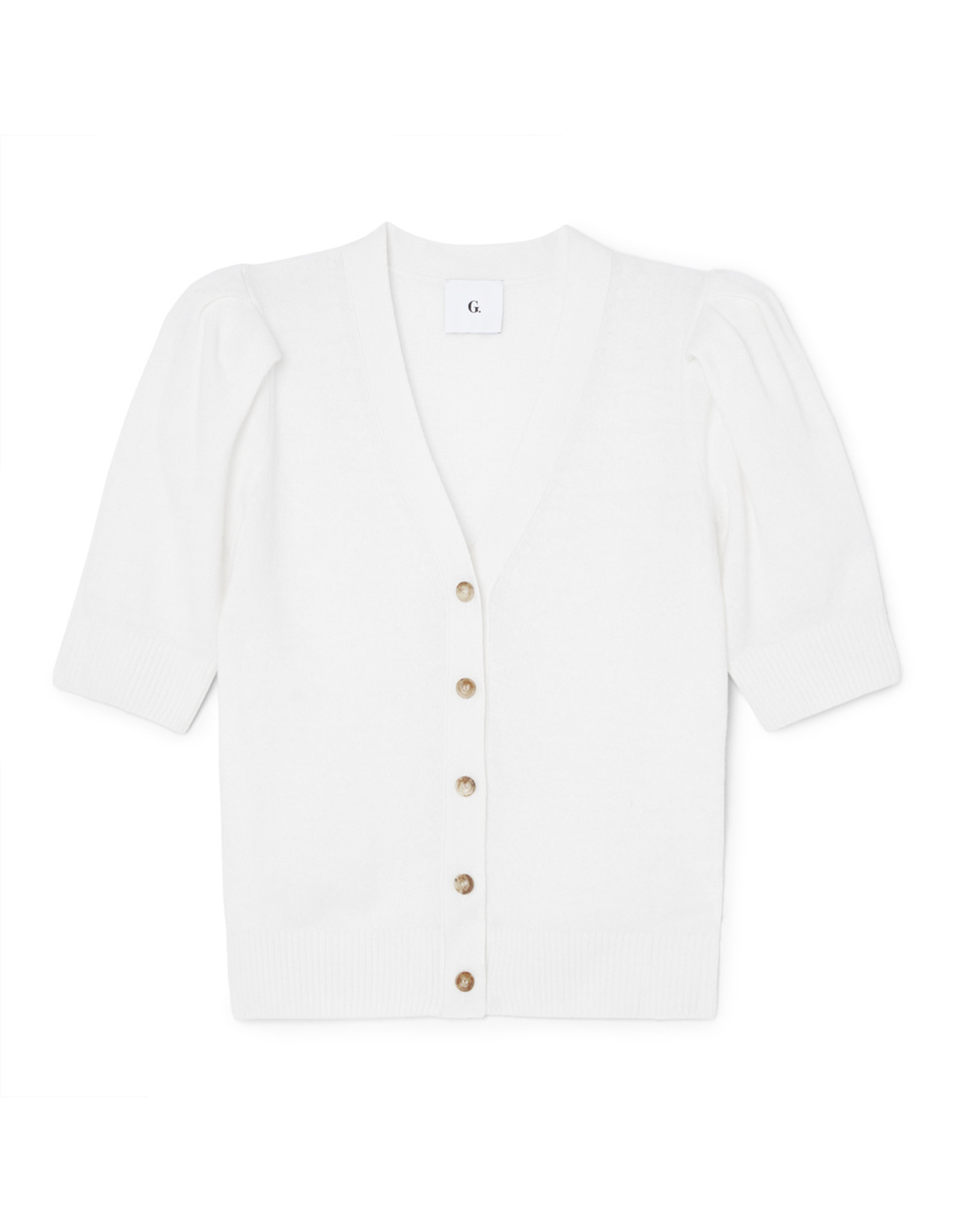 G. Label G. Label Juliette Short Sleeve Cardigan (Size: XL, Color: Ivory)
