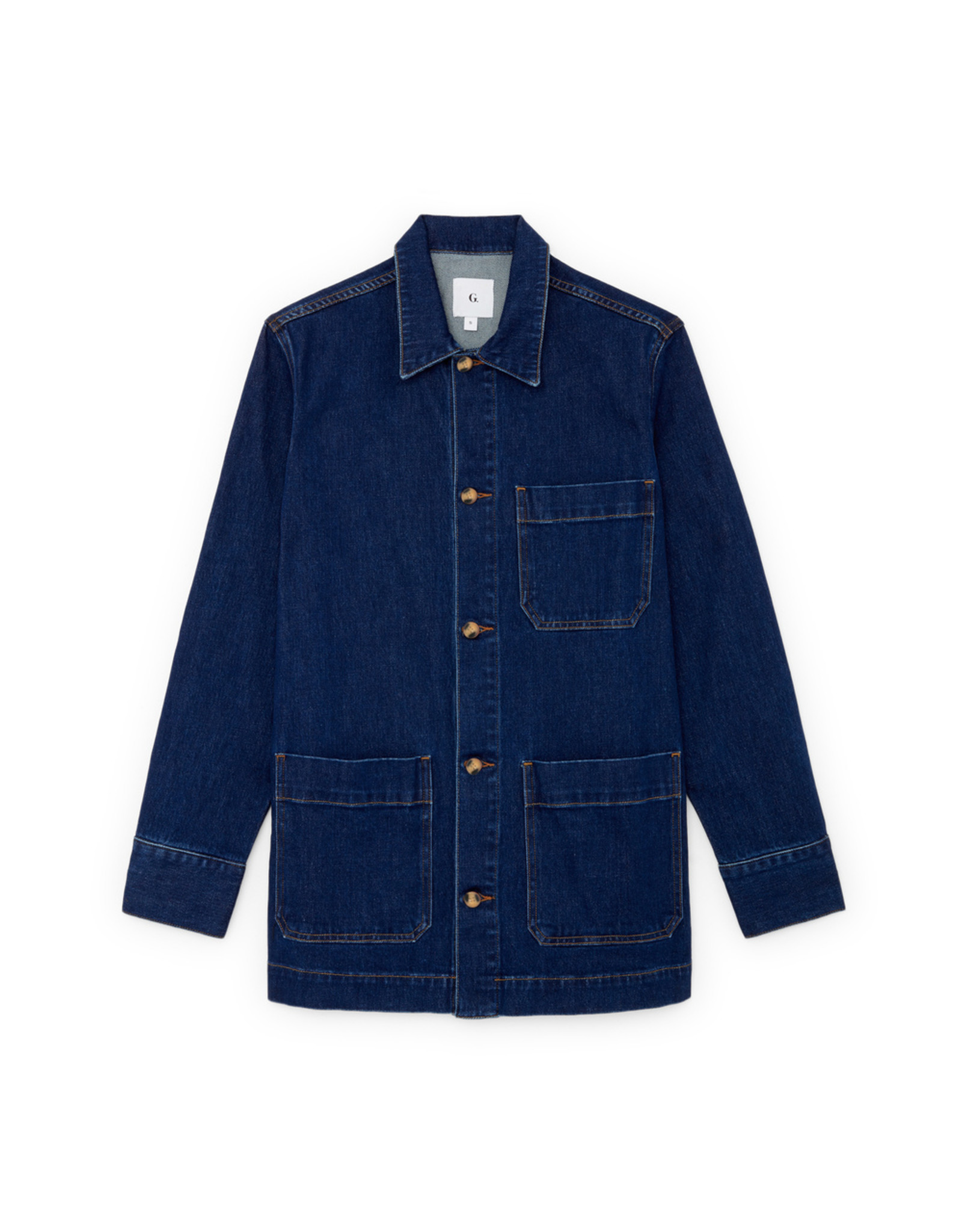 G. Label G. Label Sandra Utility Jacket (Color: Medium Blue Wash, Size: S)