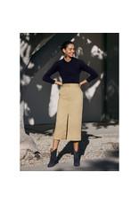 G. Label G. Label Alexandra Slit Trouser Skirt (Size: 4, Color: Khaki)