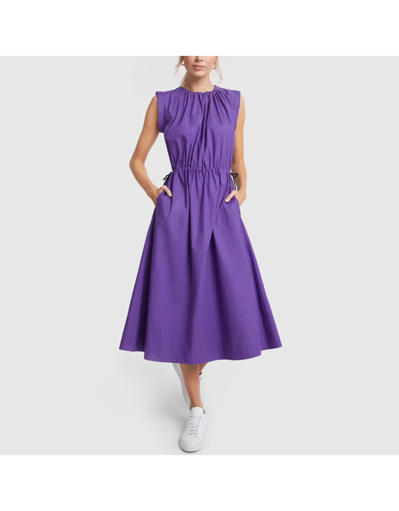 G. Label G. Label Kaci Drawstring Shirtdress (Size: 6, Color: Purple)