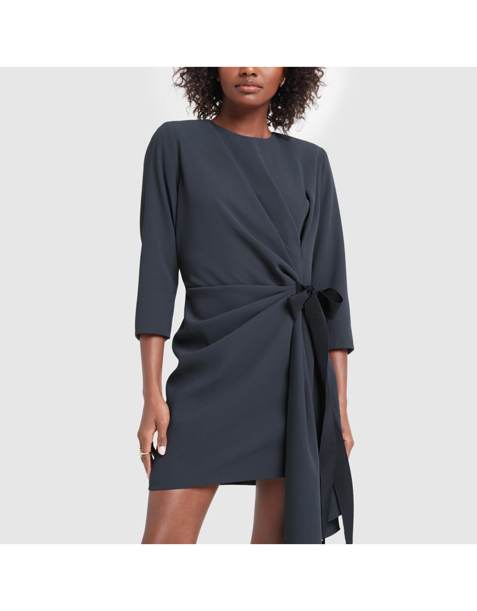 G. Label G. Label Lai Side-Pleat Dress (Size: 2, Color: Navy)