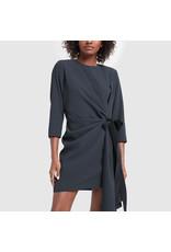 G. Label G. Label Lai Side-Pleat Dress (Size: 4, Color: Navy)