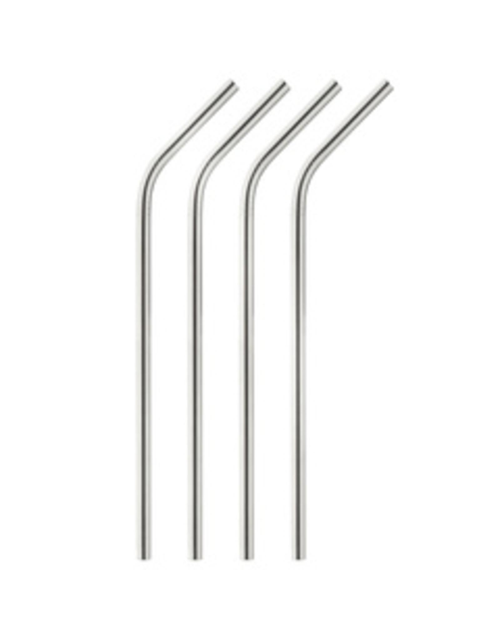 Onyx Onyx Stainless Steel Straws, Set of 4