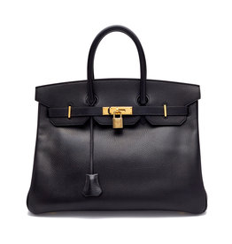 What Goes Around Comes Around Hermes Arnnes Birkin 35 - Black / Gold