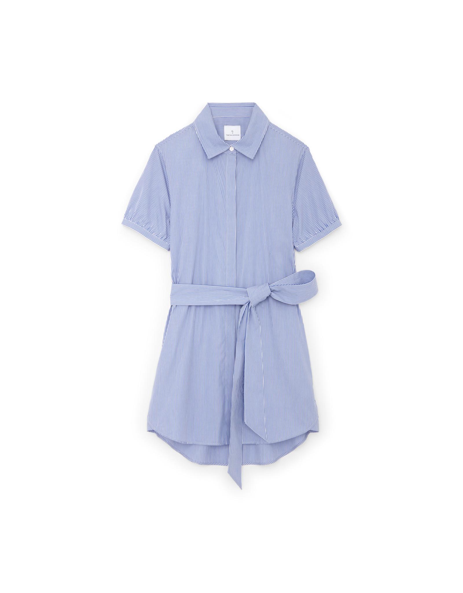 G. Label G. Label Cusco Mini Shirt Dress (color: Blue & White Stripe, Size: L)