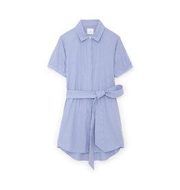 G. Label Cusco Mini Shirt Dress (color: Blue & White Stripe, Size: L)