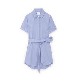 G. Label G. Label Cusco Mini Shirt Dress (color: Blue & White Stripe, Size: L)