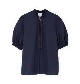 G. Label G. Label Anjelica Zip Front Top (Color: Navy, Size: 2)
