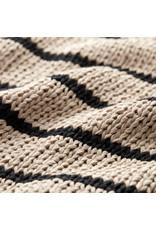 G. Label G. Label  Eric Chunky Knit Tank Top (Color: Khaki/Black Stripe, Size: L)