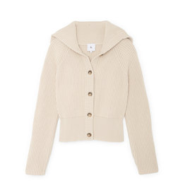 G. Label G. Label Bella Button Bomber Cardigan (Color: Ivory, Size: L)