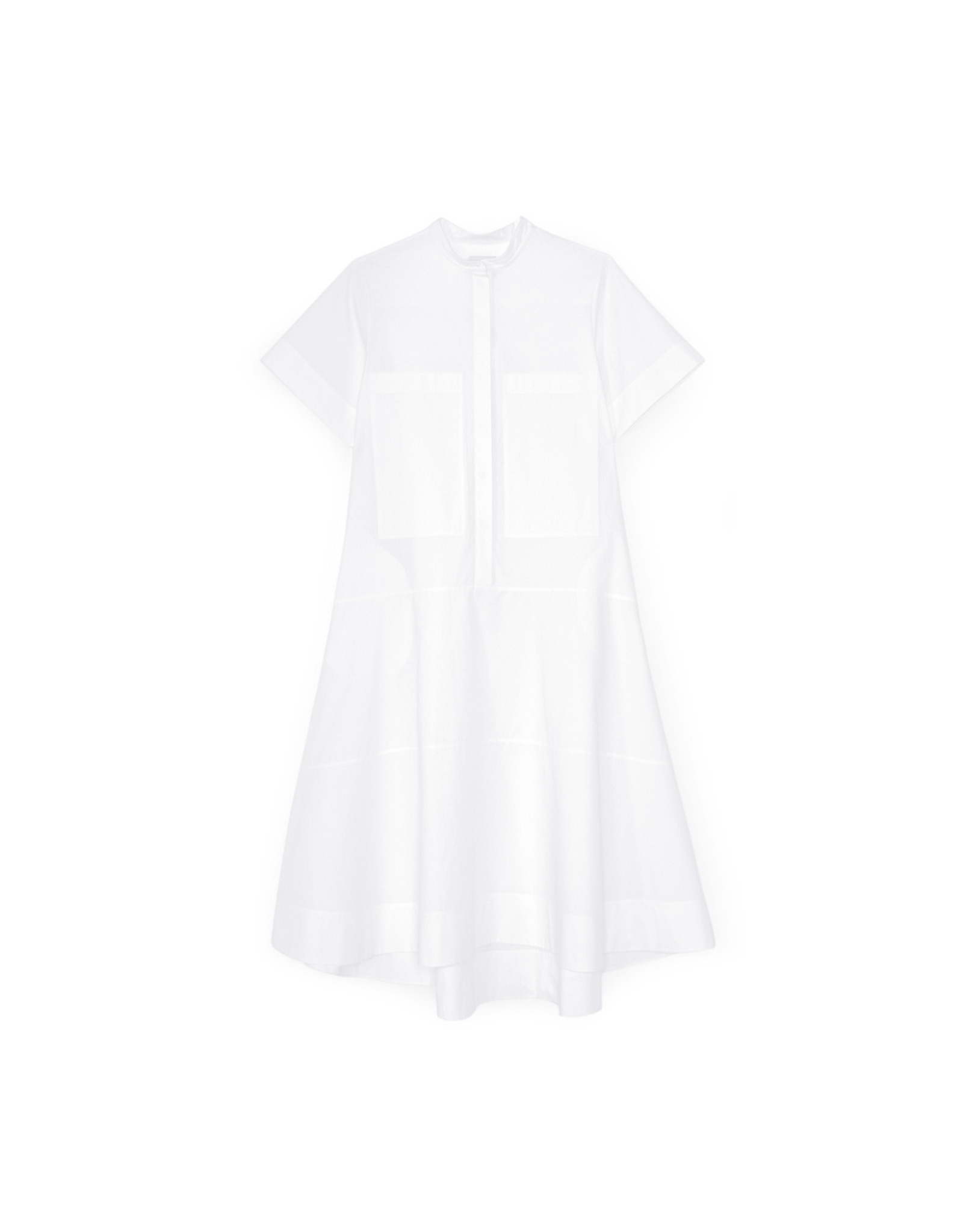 G. Label G. Label Mendoza Dropped-Waist Shirtdress (Color: White, Size: 4)