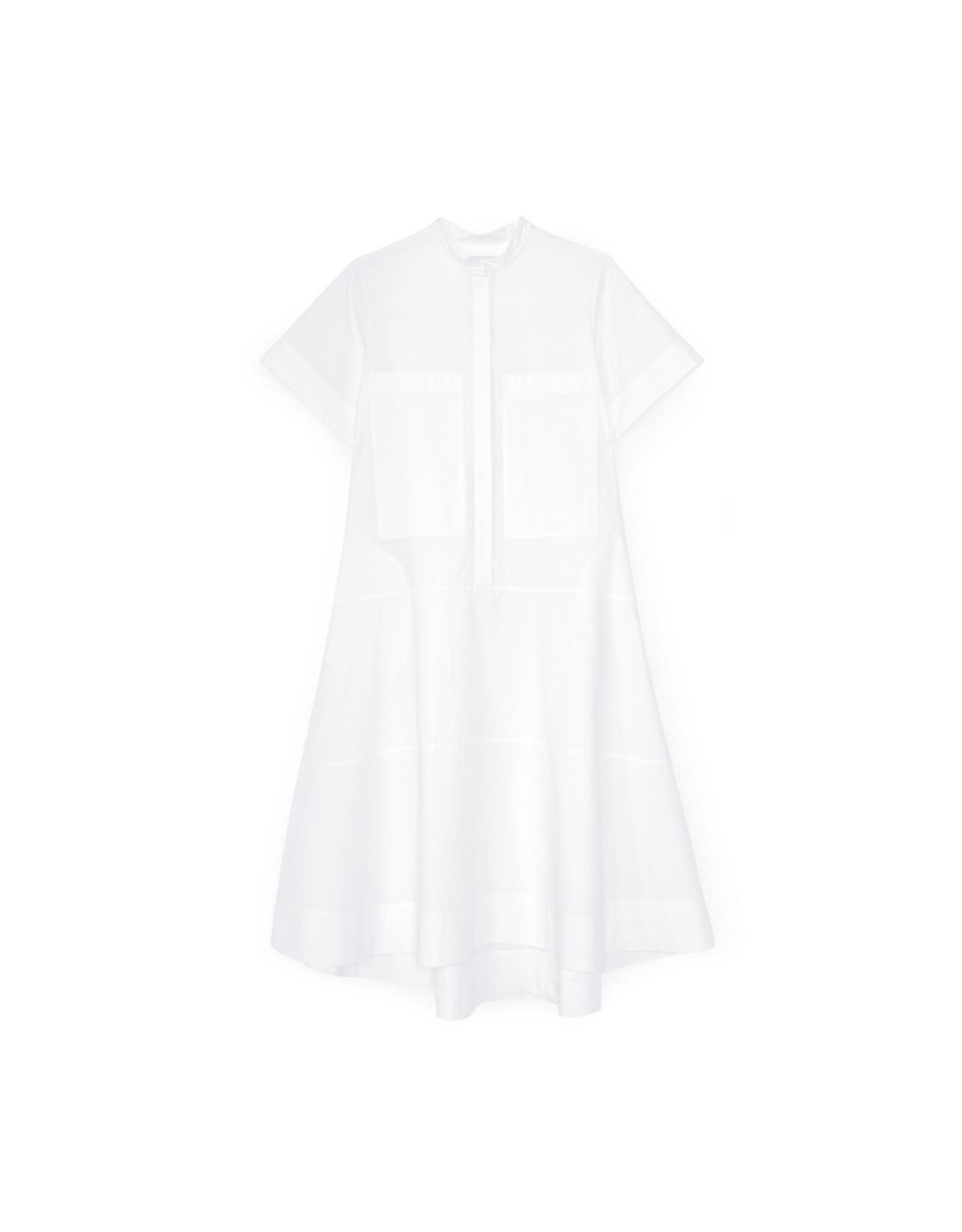 G. Label G. Label Mendoza Dropped-Waist Shirtdress (Color: White, Size: 8)