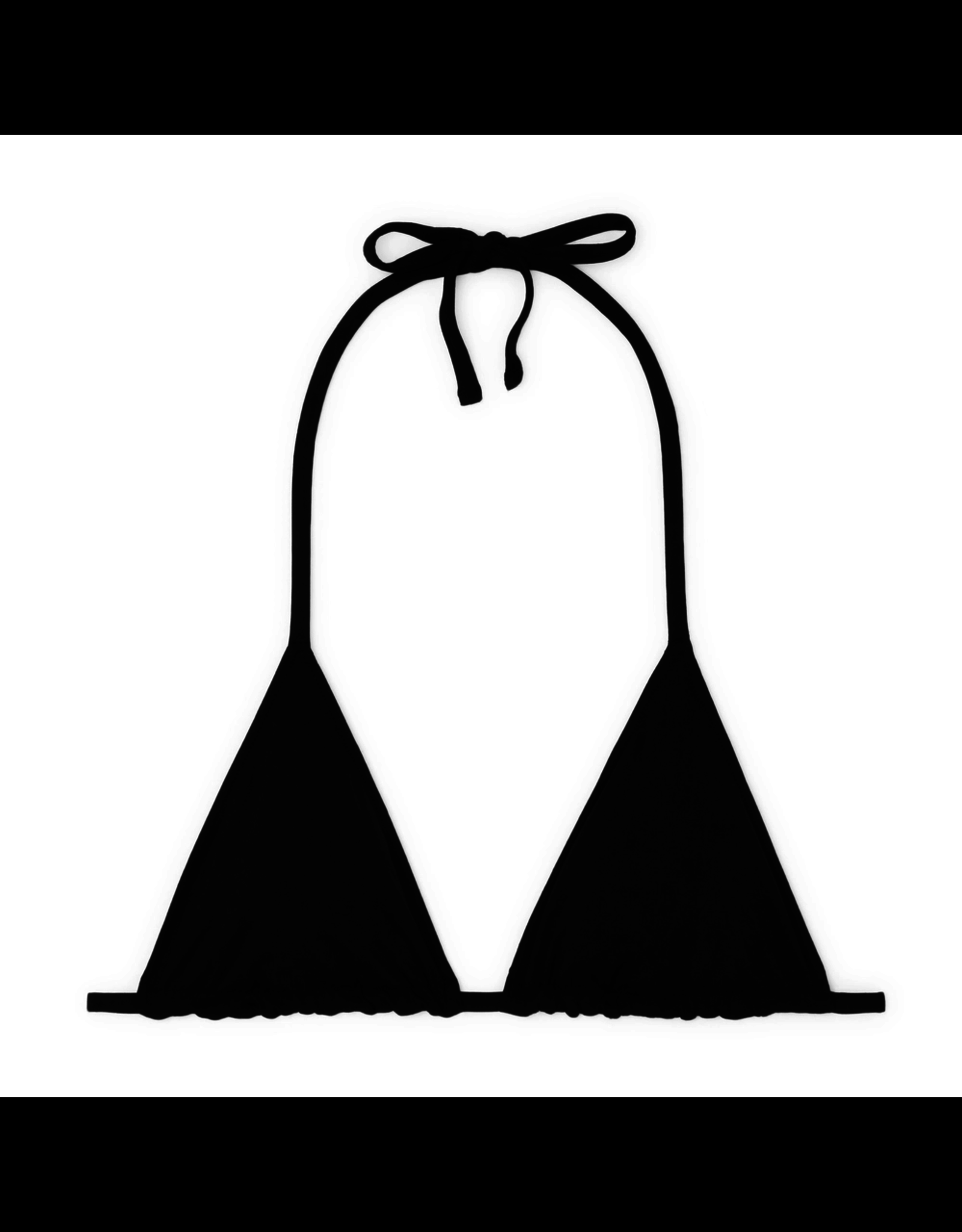 G. Label G. Label String Triangle Top (Color: Black, Size: S)