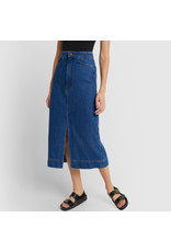 G. Label G. Label Yu Denim Pencil Skirt (Color: Medium Blue Wash, Size: 28)