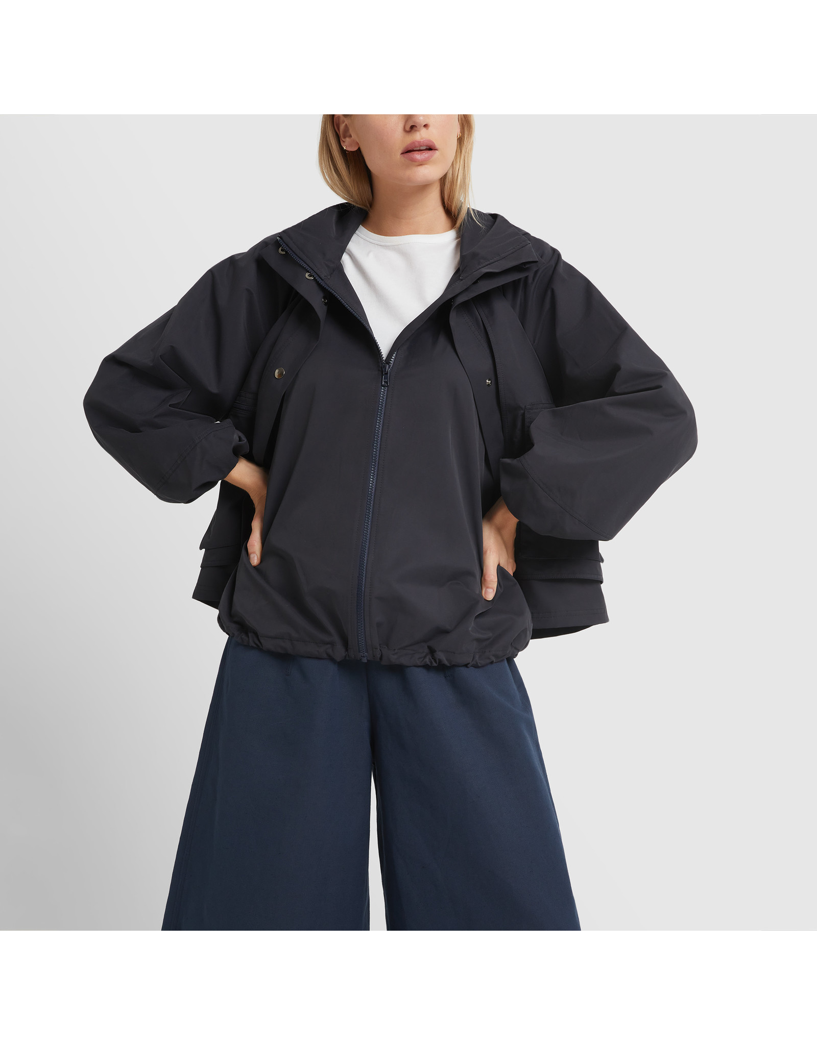 G. Label G. Label Carolyn Utility Performance Jacket (Color: Navy, Size: L)