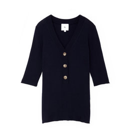 G. Label G. Label Nate Mid-Sleeve Rib Henley (Color: Navy, Size: S)