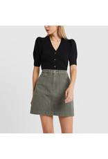 G. Label G. Label Juliette Short Sleeve Cardigan (Color: Black, Size: XS)