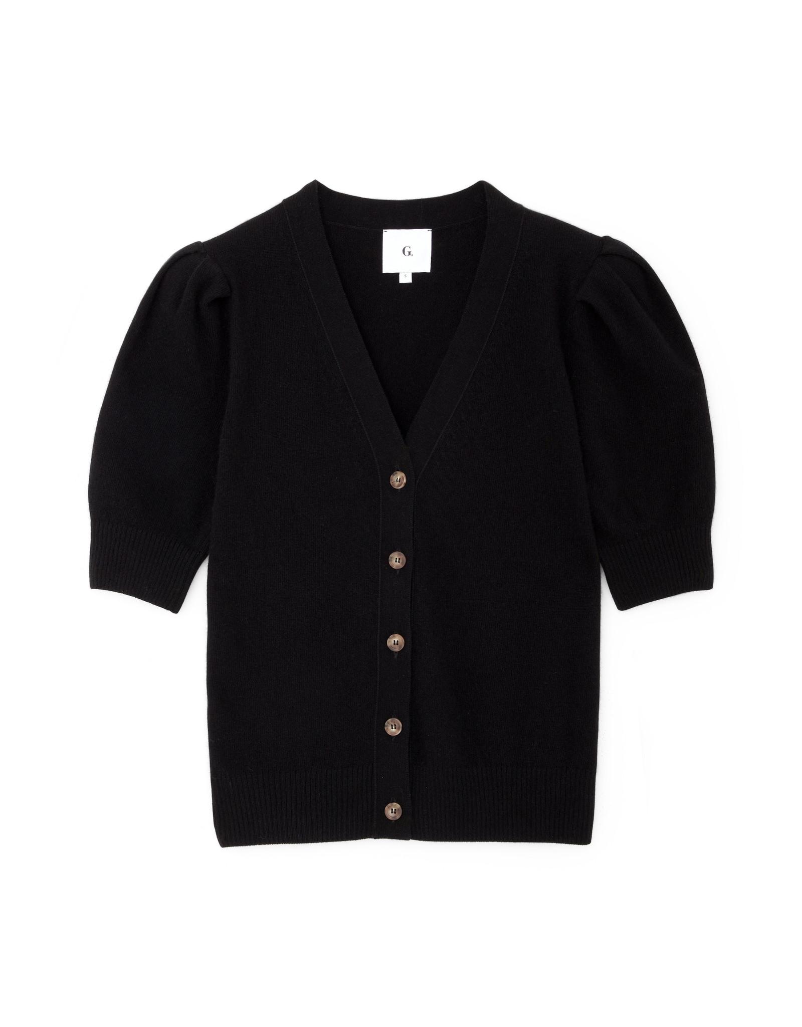 G. Label G. Label Juliette Short Sleeve Cardigan (Color: Black, Size: M)