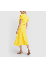 G. Label Zelda Rounded-Sleeve Drawstring Dress (Color: Yellow, Size: 2)
