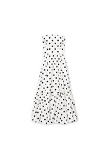 G. Label Zera Strapless Tiered Dress (Color: White & Black Dot Print, Size: 8)