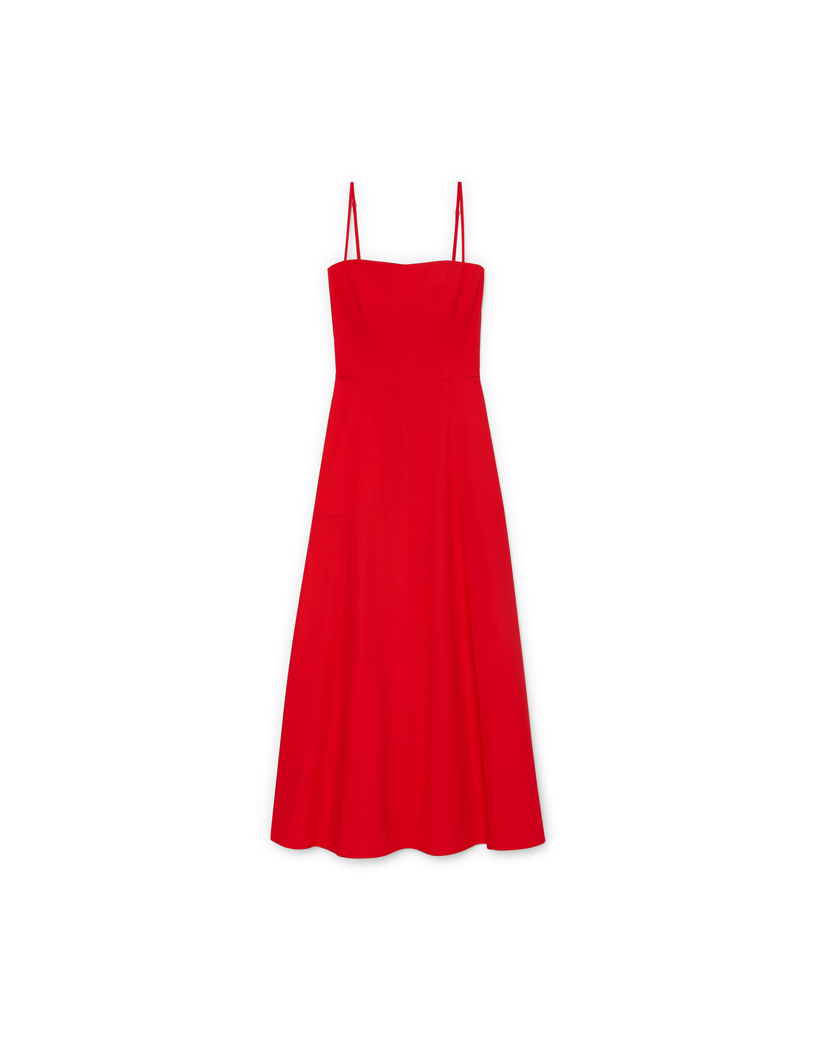 G. Label Cambria Skinny Strap Mid-Length dress (Color: Red, Size: 10)