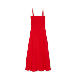 G. Label Cambria Skinny Strap Mid-Length dress (Color: Red, Size: 6)