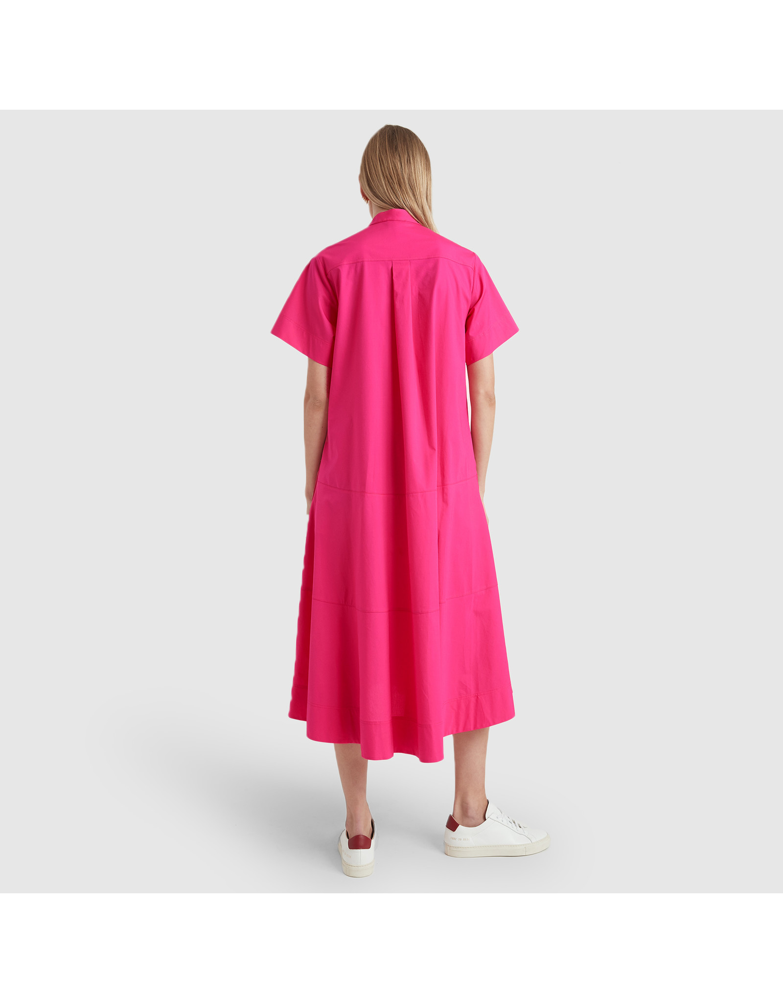 G. Label G. Label Mendoza Dropped-Waist Shirtdress (Color: Hot Pink, Size: 8)