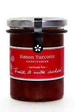 Simon Turcotte confiturier Tartinade Fraise et menthe chocolatée