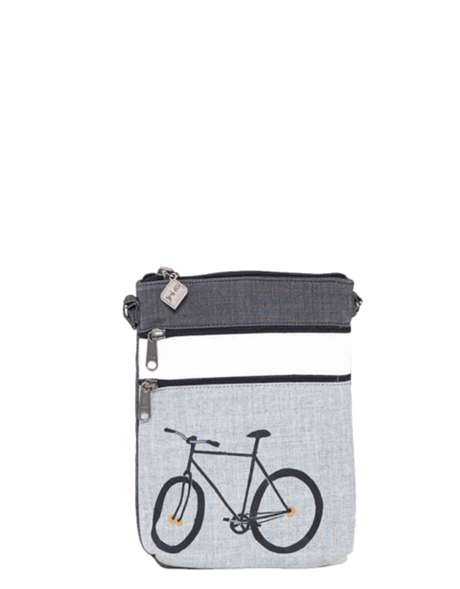 Jak's Pochette de marche Vélo Grise