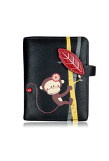 ESPE Petit portefeuille singe noir