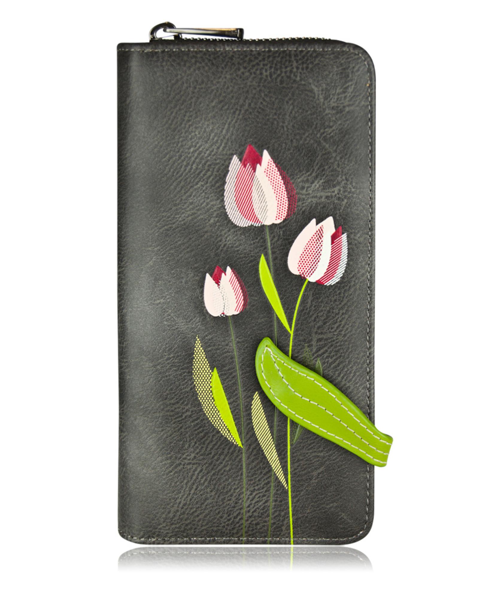 ESPE Portefeuille clutch Tulipe Gris