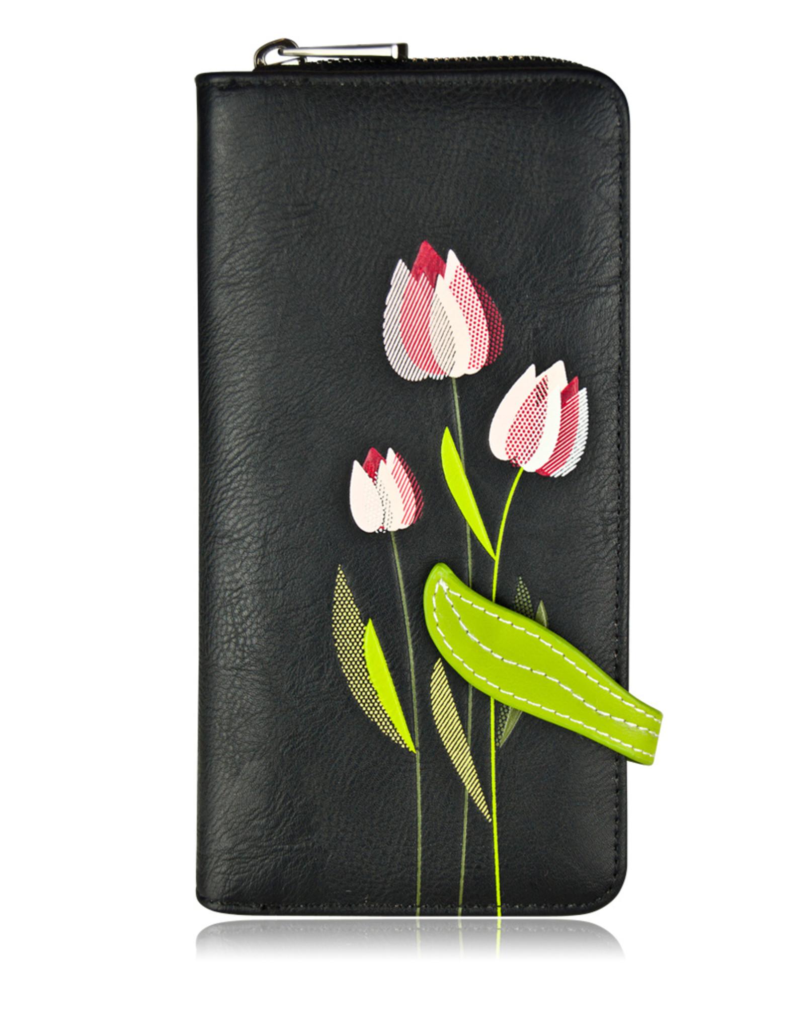 ESPE Portefeuille clutch Tulipe  Noir