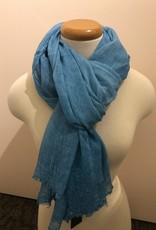 Fraas Foulard bleu marbré