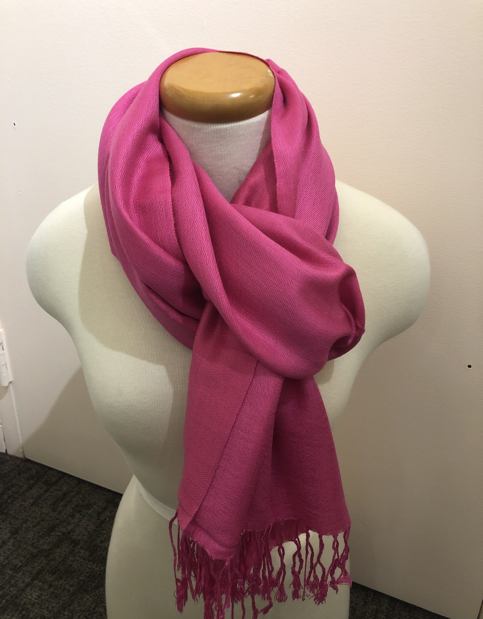 Foulard rose fuschia