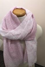 Foulard rose et blanc patchwork