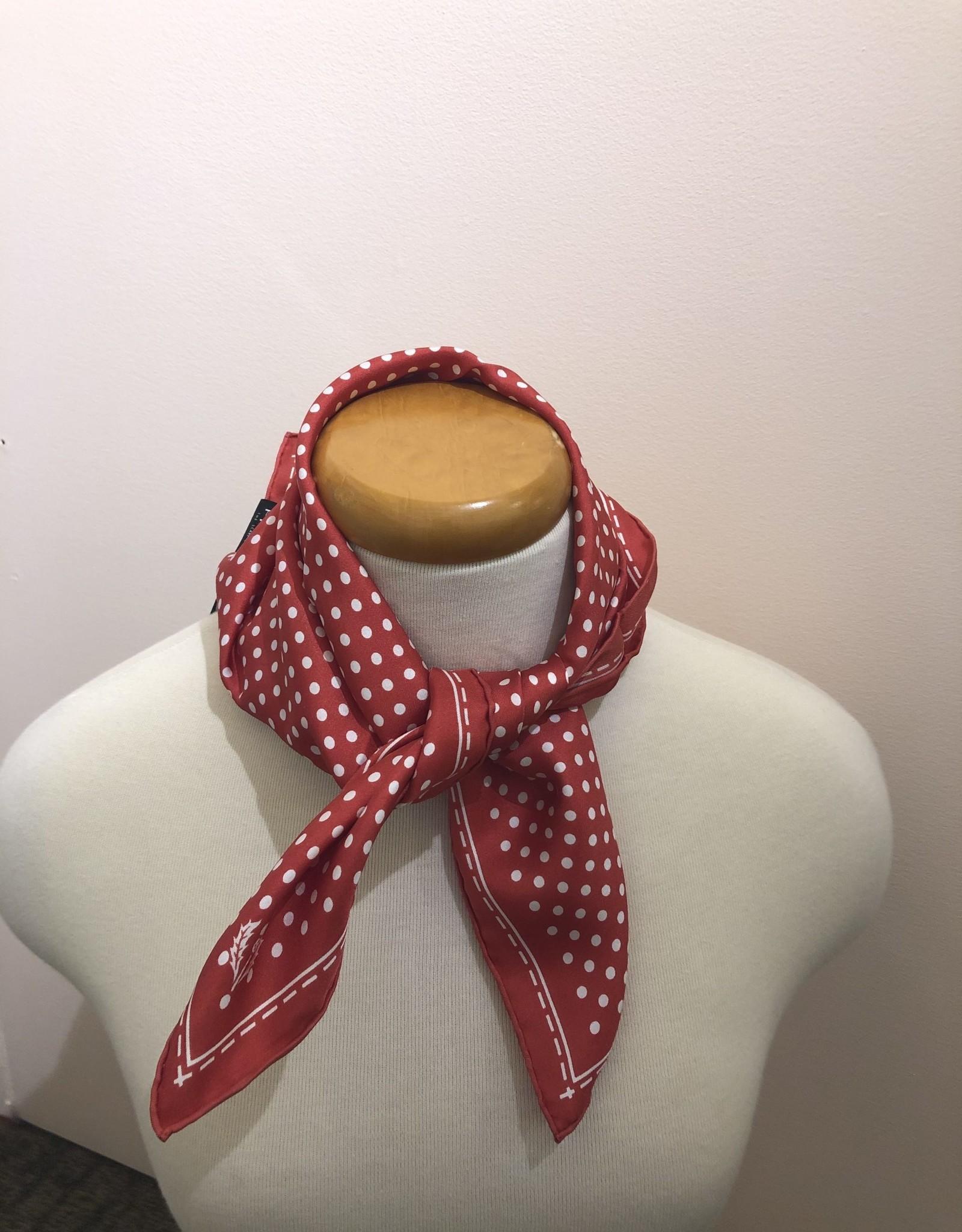 Fraas Carré de soie rouge à pois