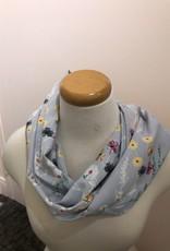 Baluchon Infini fleuri coloré gris # 1820-1130