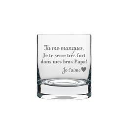 La maison du bar Verre à whisky Papa, tu me manques