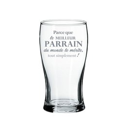 La maison du bar Verre à bière Parrain